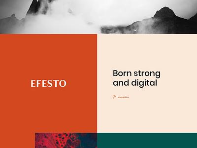 EFESTO typography logo website creativity sketch brand identity ui ux design