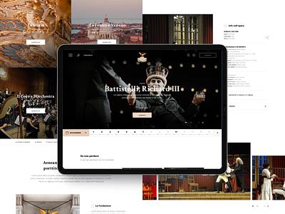 Teatro La Fenice interaction identity creativity sketch brand photo website ui ux design