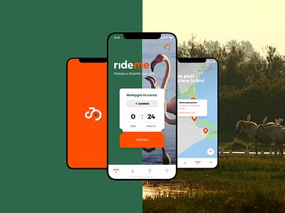 Rideme.it app creativity sketch logo react native development website ux ui design