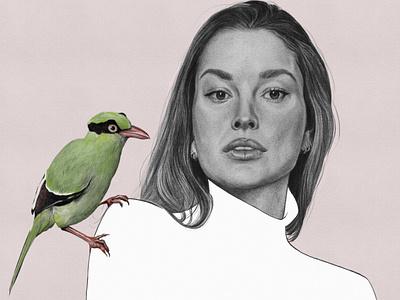 Gypsie & Java procreate portrait illustration graphite illustration graphite drawing digital art digital illustration