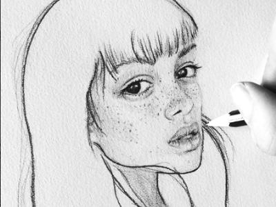 Emily Bador portrait drawing