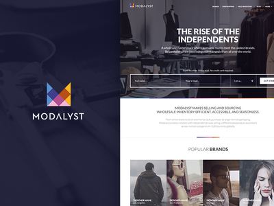 Modalyst redesign web development django python infinite loop landing page web