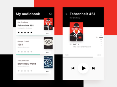 Audiobooks app concept