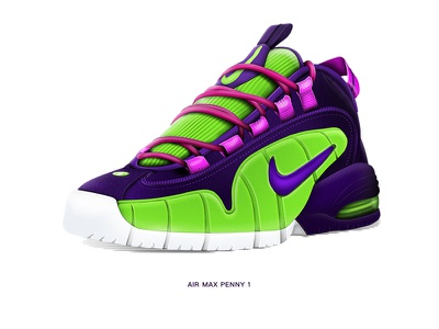 #联结成功# Air max Penny 1 aj jordan airmax eva shoes basketball sneaker icon gui