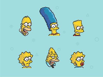 Simpsons lisa icon bart homer simpsons illustration