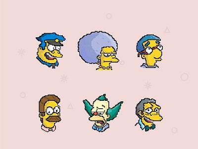 Simpsons2 simpsons lisa illustration icon homer bart