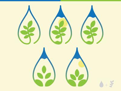Bota plant green line simple minimal logo