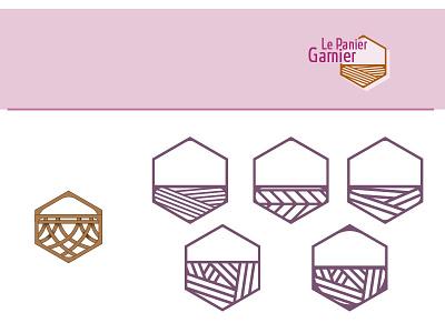 Panier logo basket illustration simplify