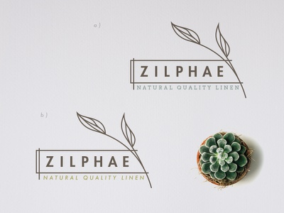 Zilphae logo plants illustration simplify
