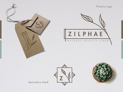 Zilphae green logo plants illustration simplify