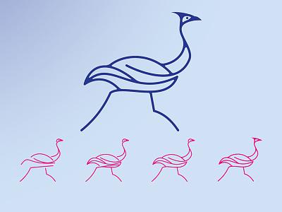 Gofer.com lines abstract animal minimalism logo