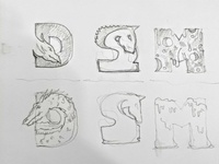 Game house lettering