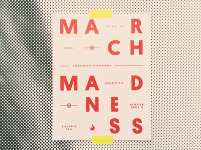 March Madness basketball poster march madness