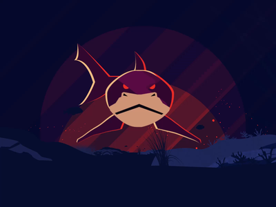 shark loop invite tool puppet after effects animation loop shark