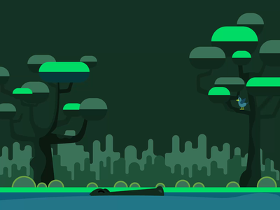 croc and bird swamp invite after effects animation bird croc