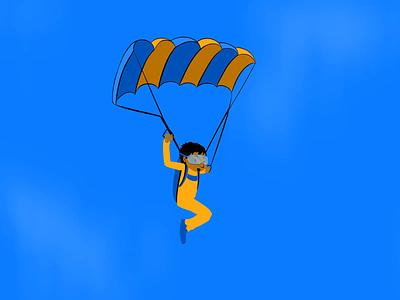 skydive loop frame by frame invite animation falling parrachute skydiving loop skydive