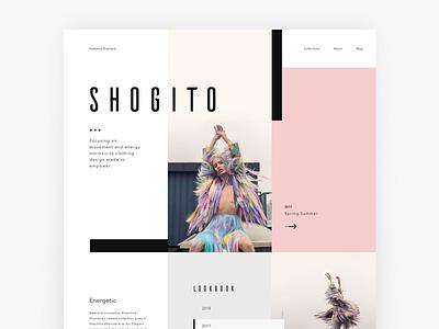 Shogito ui layout soft brand pink pastel fashion