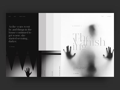 The Vanishing halloween user interface scary ui black  white black vanishing web story horror
