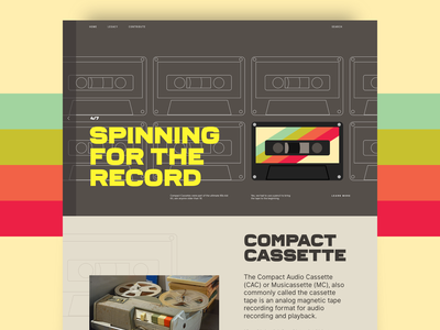 Ghosts of the past - Cassette typography past history cassettes retro tape design layout art direction website ui