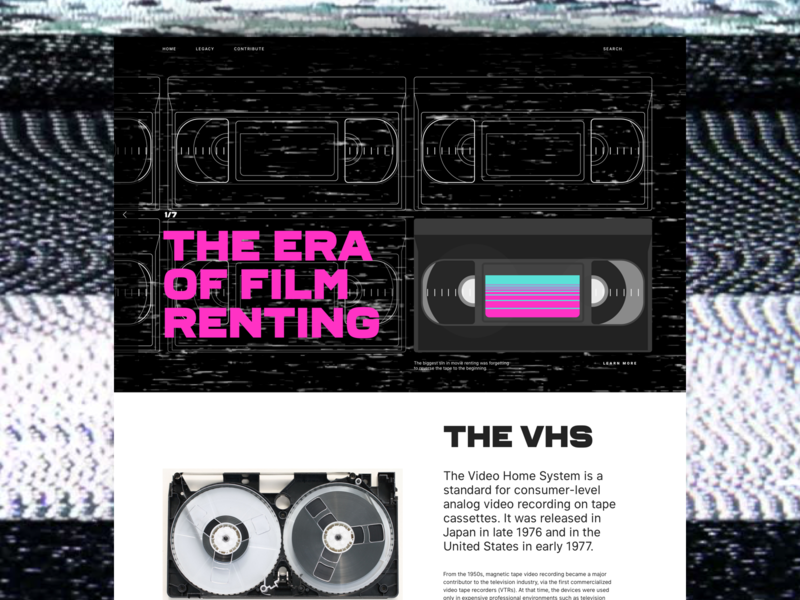 Ghosts of the past - VHS magenta illustration layout typography blockbuster film movie tape vhs retro design art direction website ui