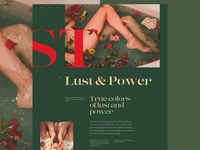 Lust&Power design story user interface layout typography website ui art direction
