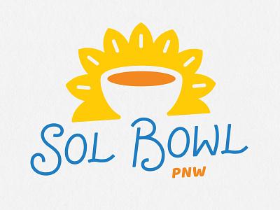 Sol Bowl PNW restaurant logo logo design design typography logotype branding logo