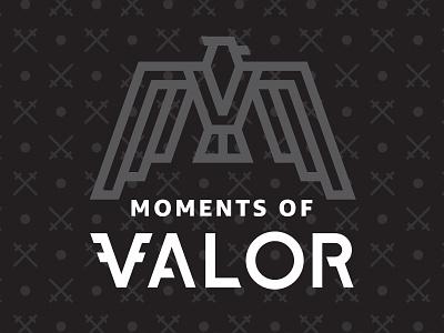 Moments of Valor branding vector design typography logo