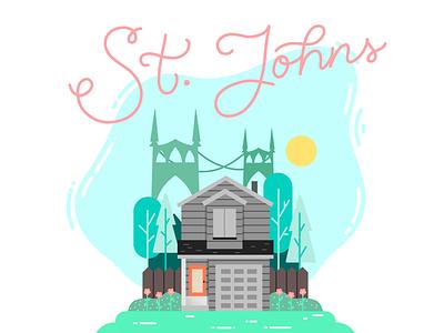 Home Sweet Home home procreate portland digital illustration