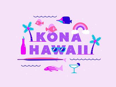 All I Ever Wanted pattern play colorful hawaii ipad pro procreate digital illustration
