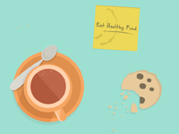 Post it: Eat healthy food