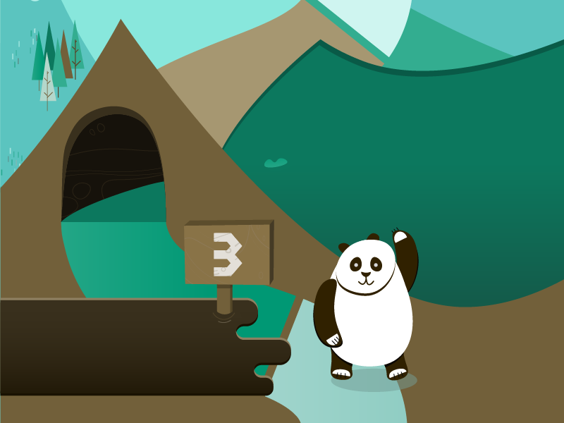 The journey of the bears trip way wood cute funny animals illustration infographic polar bear journey bears