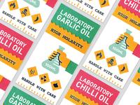 Garlic & Chilli Oil Labels