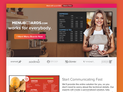 Menuboards.com Launch