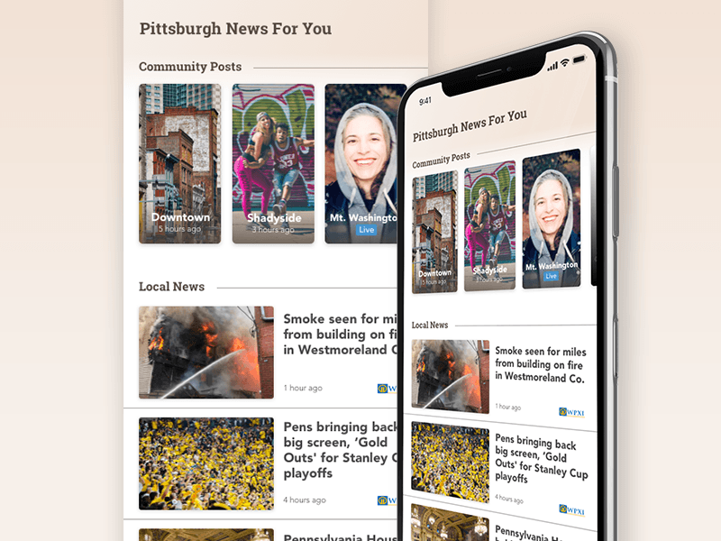 Local News Stories Screen pittsburgh stories news app app iphone x local news local news