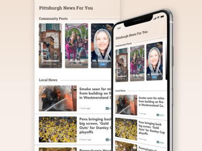 Local News Stories Screen