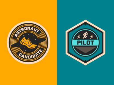 Race Through Space Badges