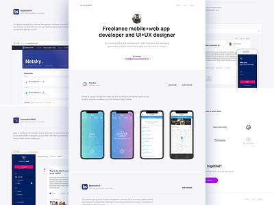 Portfolio redesign ✨ web design brand projects minimal clean ui portfolio
