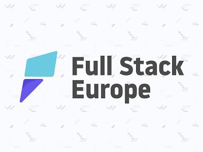 Logo Full Stack Europe Conference identity branding logotype conference pattern logo