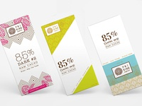 Chocolate bar logo + packaging design concepts
