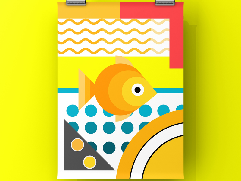 Hot fish vector fish