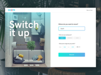 Web app for switching apartments—Homepage