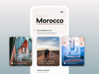 Travel planner — mobile concept