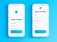 Twitter Log in redesign concept