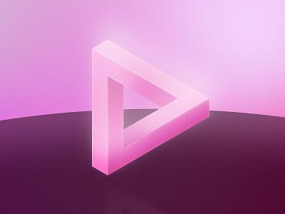 Distortion - Escher Triangle shapes triangle light illumination gradient vector art design geometric illusion docusign after effects c4d 3d