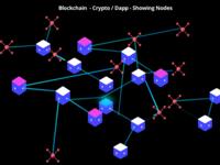 Blockchain Cryto Dapp Illustrationm