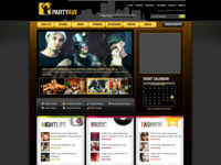 Partyave Social Events Website mockup