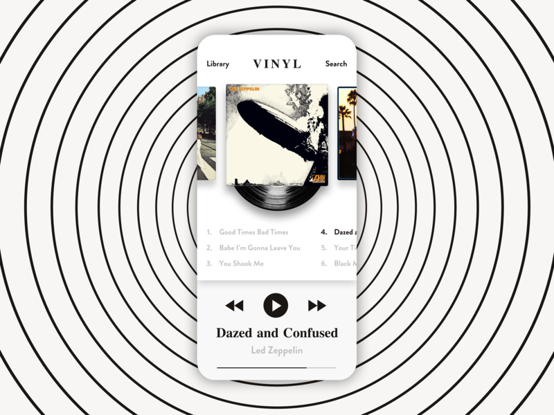 vinyl music app for vinyl record people by kyle collins dribbble 2 by 6 Wood vinyl music app for vinyl record people