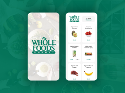 Whole Foods App – Redesign – Order Groceries