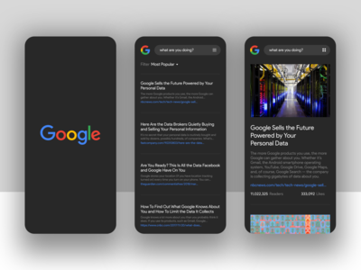 Google (Dark Mode) – Destructive Advertising