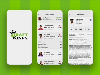 (continued) DraftKings - Redesign Concept